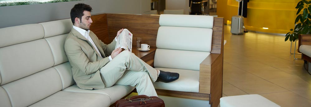 Relax and wait for your flight conveniently